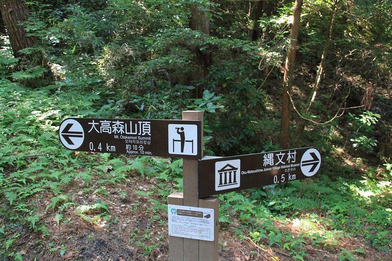 松島四大観 大高森 分かれ道